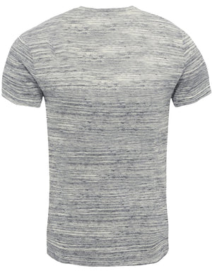 Seal Beach Motif Space Dye T-Shirt in Ecru Marl