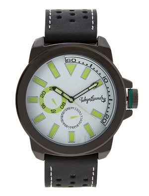 Peyton Analogue Watch in Black - Tokyo Laundry