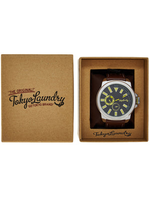 Peyton Analogue Watch in Brown - Tokyo Laundry