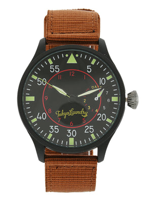 Doyle Military Style Analogue Watch in Brown / Black - Tokyo Laundry