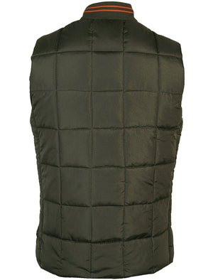 Tokyo Laundry Fermat  Khaki quilted gilet