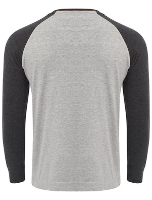 Fremont Cove Baseball Top in Charcoal Marl - Tokyo Laundry