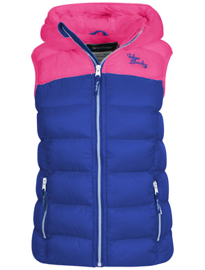Tokyo Laundry Helena blue & pink gilet