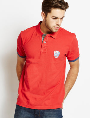 Tokyo Laundry Thompson red polo shirt