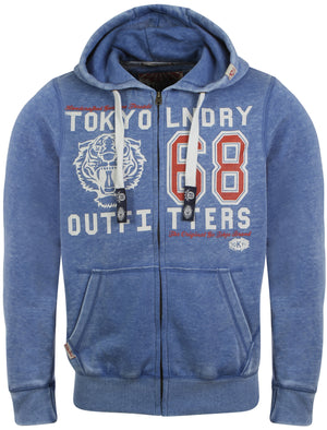 Tokyo Laundry Wincanson blue zipped hoodie
