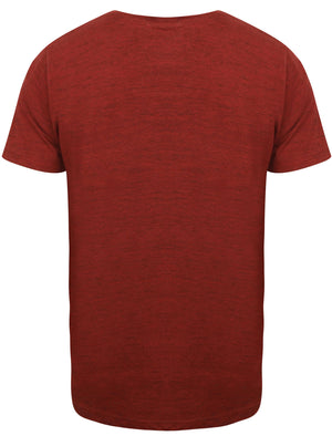 Grotto Space Dye T-Shirt with Pocket Oxblood / True Navy - Tokyo Laundry