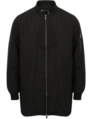 Wordsworth MA1 Longline Bomber Jacket in Black - Dissident