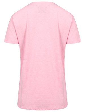 Irene Foil Motif T-Shirt in Baby Pink Marl – Tokyo Laundry
