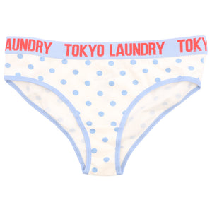 Luna (3 Pack) Assorted Print Briefs In Blue / Red / Ivory - Tokyo Laundry