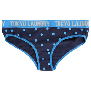 Betsy (3 Pack) Assorted Briefs In Grey Marl / French Blue / Eclipse Blue - Tokyo Laundry
