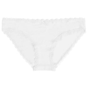 Perry (5 Pack) Cotton Lace Briefs In Optic White / Black / Grey Marl - Amara Reya