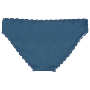 Perry (5 Pack) Cotton Lace Briefs In Grey Marl / Eclipse Blue / Dark Denim / Cerulean Blue - Amara Reya