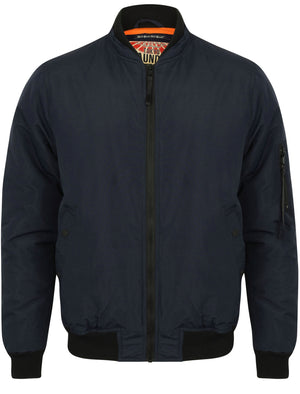 Abourne Zip Through Bomber Jacket in True Navy – Tokyo Laundry
