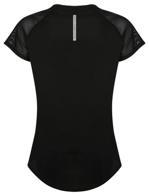 Larke Mesh Panel Fitted Sports Top in Black – Tokyo Laundry Active