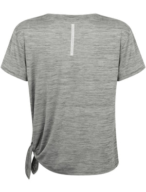 Matella Tie Side Sports Top in Mid Grey Marl – Tokyo Laundry Active