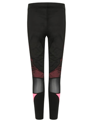 Vassou Mesh Panelled Leggings in Black / Neon Pink – Tokyo Laundry Active