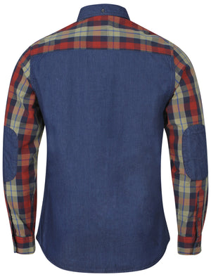 Mens Tokyo Laundry Adrian Red Long Sleeved Shirt