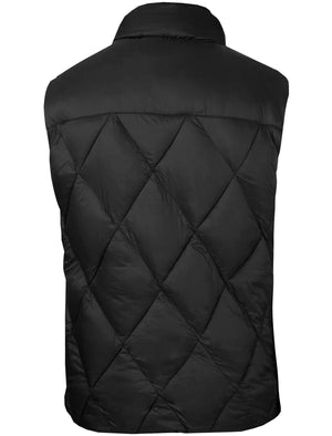 Airdrie Puffer Diamond Quilted Gilet in Black - Tokyo Laundry