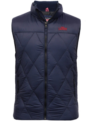 Airdrie Puffer Quilted Gilet in Midnight Blue - Tokyo Laundry