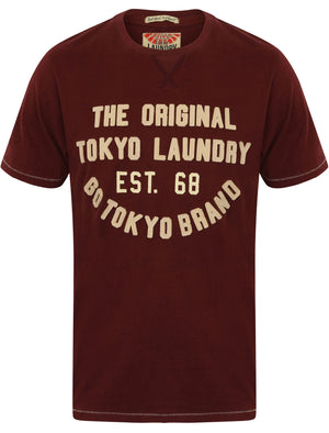 Alabama Cove Motif T-Shirt with Crew Neckline in Wine Tasting – Tokyo Laundry