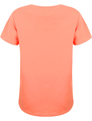 Alexa Skyline Motif Cotton Jersey T-Shirt In Sweet Peach – Tokyo Laundry