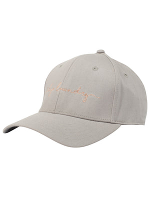 Alicia Embroidered Cotton Twill Cap In Paloma Grey – Tokyo Laundry