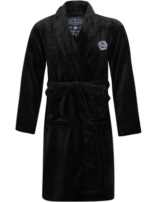 Alps Soft Fleece Dressing Gown with Tie Belt in Black – Tokyo Laundry
