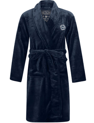 Alps Soft Fleece Dressing Gown with Tie Belt in Blue – Tokyo Laundry