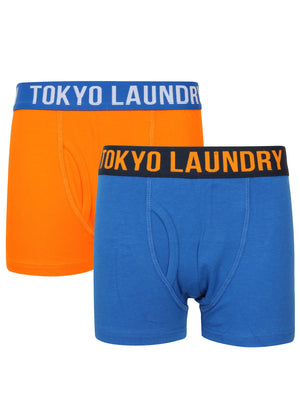 Boys Alton (2 Pack) Boxer Shorts Set In Vibrant Orange / Ocean – Tokyo Laundry Kids
