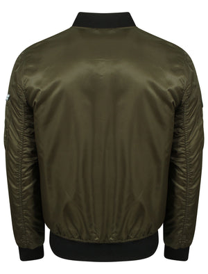 Amalfi Bomber Jacket with Flight Patches in Amazon Khaki - Tokyo Laundry