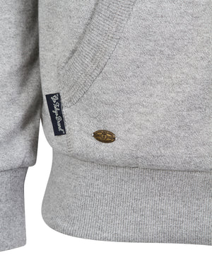 Amber Valley Borg Lined Hoodie in Mid Grey / Ivory Marl - Tokyo Laundry
