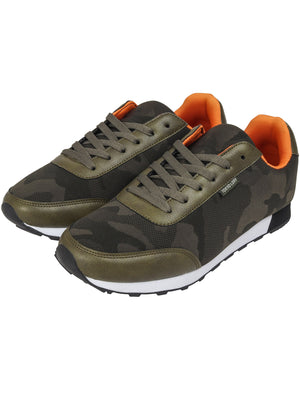 Ambush Camo Print Lace Up Trainers in Olive Green – Tokyo Laundry