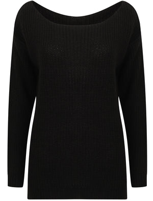Amelia Off The Shoulder Knitted Jumper in Black – Tokyo Laundry
