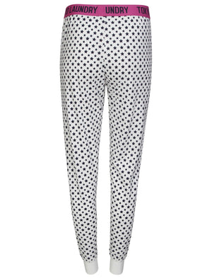 Amelie Star Print Cotton Lounge Pants in White – Tokyo Laundry