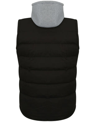 Annerley2 Fleece Lined Quilted Gilet with Detachable Hood in Black - Tokyo Laundry