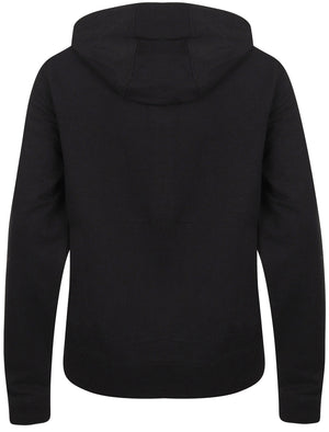 Arcus Loop Back Fleece Zip Through Hoodie In Jet Black - Tokyo Laundry
