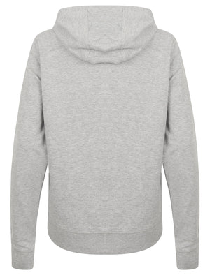 Arcus Loop Back Fleece Zip Through Hoodie In Light Grey Marl - Tokyo Laundry