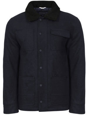 Babayan Borg Collar Wool Rich Jacket in Navy - Tokyo Laundry