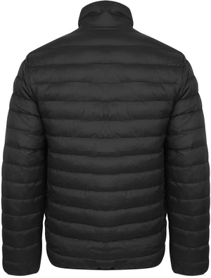 Bakman Funnel Neck Quilted Puffer Jacket in Black - Tokyo Laundry