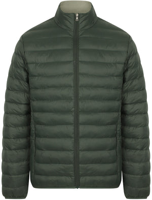 Bakman Funnel Neck Quilted Puffer Jacket in Deep Forest - Tokyo Laundry