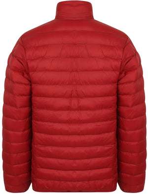 Bakman Funnel Neck Quilted Puffer Jacket in Deep Red – Tokyo Laundry