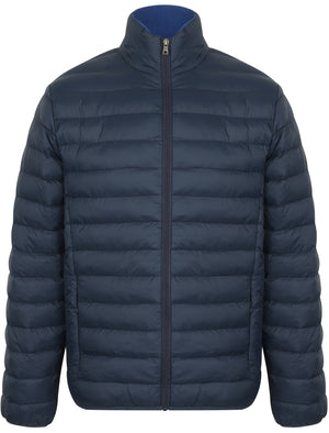 Bakman Funnel Neck Quilted Puffer Jacket in Midnight Blue - Tokyo Laundry