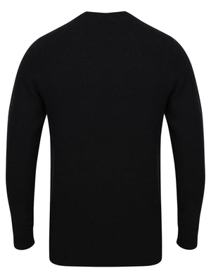 Bate Wool Rich Knitted Jumper in Dark Navy  – Tokyo Laundry