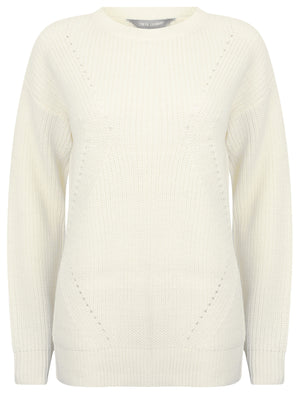 Belle Pointelle Fisherman Knit Jumper in Snow White – Tokyo Laundry