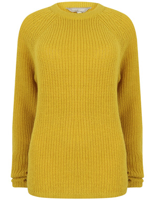 Bilberry Crew Neck Fisherman Knit Jumper In Cress Green – Tokyo Laundry