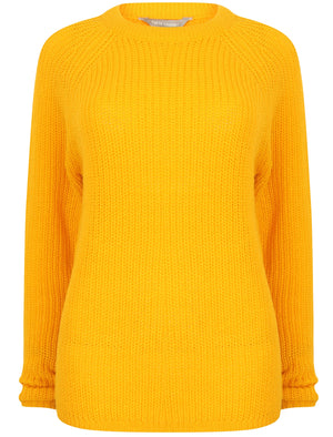 Bilberry Crew Neck Fisherman Knit Jumper In Golden Rod – Tokyo Laundry