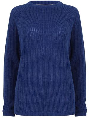 Bilberry Crew Neck Fisherman Knit Jumper In Mazarine Blue – Tokyo Laundry