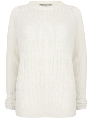 Bilberry Crew Neck Fisherman Knit Jumper In Winter White – Tokyo Laundry