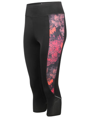 Bonnie Workout Capri Leggings in Black / Floral Print – Tokyo Laundry Active