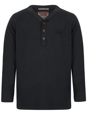 Boys K-Winter Pines Henley Top in Dark Navy – Tokyo Laundry Kids